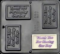 1525 Thank You For Sharing Our Day Chocolate Candy Mold