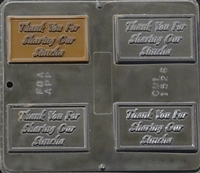 1526 Thank You For Sharing Our Simcha Chocolate Candy Mold