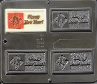 1529 Happy New Year Chocolate Candy Mold