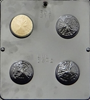 1642  Sand Dollar Oreo Cookie Chocolate Candy Mold