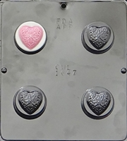 1647 Filigree Heart Oreo Cookie Chocolate Candy Mold