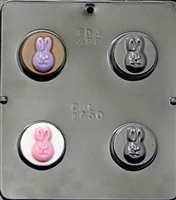 1650 Bunny Rabbit Face Oreo Cookie Chocolate Candy Mold