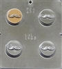 1653 Mustache Oreo Cookie Chocolate Candy Mold