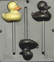1807 Duck Lollipop Chocolate Candy Mold