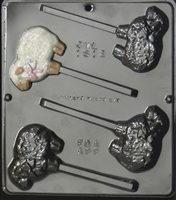 1812 Lamb with Bow Lollipop Chocolate Candy Mold