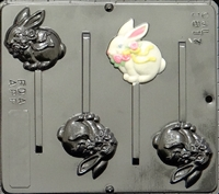 1817 Bunny Pop Lollipop Chocolate Candy Mold