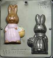 1819 Girl Bunny Assembly Chocolate Candy Mold