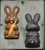 1831 Bunny holding Carrot Assembly Chocolate Candy Mold
