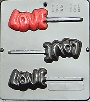 "201 ""LOVE"" Pop Lollipop Chocolate Candy Mold"