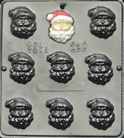 2012 Santa Claus Face Chocolate Candy Mold