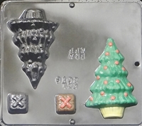 2018 Christmas Tree Assembly Chocolate Candy Mold