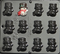 2025 Snowman Chocolate Candy Mold