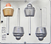203 Cupcake Lollipop Chocolate Candy Mold
