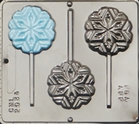 "2034 Snowflake ""Frozen"" Lollipop Chocolate Candy Mold"