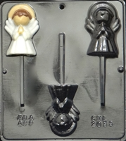 2035 Christmas Angel Lollipop Chocolate Candy Mold