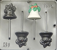 2037 Bell Pops Lollipop Chocolate Candy Mold