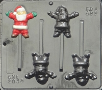 2038 Santa Pop Lollipop Chocolate Candy Mold