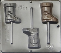 2043 Santa's Boot Lollipop Chocolate Candy Mold