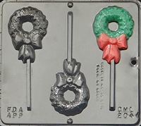 2044 Wreath Lollipop Chocolate Candy Mold