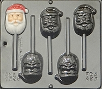 2046 Santa Face Lollipop Chocolate Candy Mold