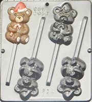 2051 Teddy Bear with Hat Lollipop Chocolate Candy Mold