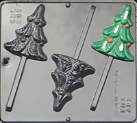2052 Christmas Decorative Tree Lollipop Chocolate Candy Mold