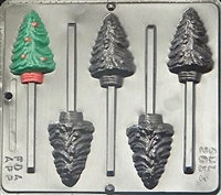 2053 Christmas Tree Lollipop Chocolate Candy Mold