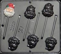 2054 Santa Face Lollipop Chocolate Candy Mold