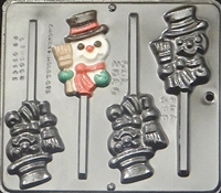 2060 Snowman Pop Lollipop Chocolate Candy Mold