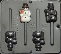 2063 Snowman Pop Lollipop Chocolate Candy Mold