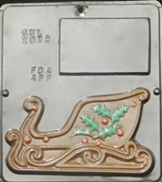 "2072 Christmas Sleigh ""Left Side"" Chocolate Candy Mold"