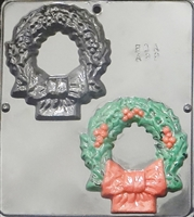 2088 Christmas Wreath Chocolate Candy Mold