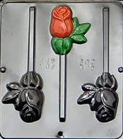 209 Rose Lollipop Chocolate Candy Mold