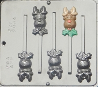 2094 Reindeer Lollipop Chocolate Candy Mold