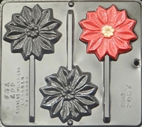 2097 Poinsettia Lollipop Chocolate Candy Mold