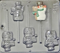 2118 Snowman Lollipop Chocolate Candy Mold