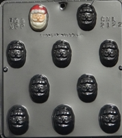2122 Santa Face Chocolate Candy Mold