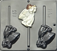 2130 Angel with Flute Lollipop Chocolate Candy Mold