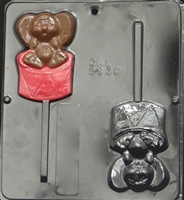 2139 Mouse on Drum Pop Lollipop Chocolate Candy Mold