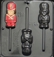 2142 Toy Soldier Lollipop Chocolate Candy Mold