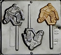 215 Hockey Player Pop Lollipop Chocolate Candy Mold