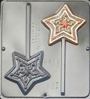 2152  Star Pop Lollipop Chocolate Candy Mold