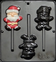 2160 Santa Claus Lollipop Chocolate Candy Mold