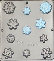 "2164 Snowflake Pieces ""Frozen"" Chocolate Candy Mold"