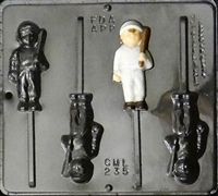 235 Baseball Player Lollipop Chocolate Candy Mold