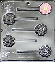 239 Daisy Lollipop Chocolate Candy Mold