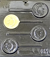249 Smiley Face Lollipop Chocolate Candy Mold