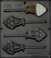 260 Ice Cream Sundae Lollipop Chocolate Candy Mold