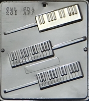 261 Piano Keyboard Lollipop Chocolate Candy Mold