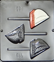 268 Sailboat Lollipop Chocolate Candy Mold